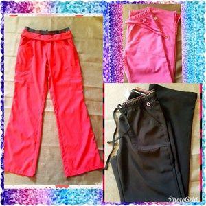 3 pairs of scrub pants, HeartSoul & Koi